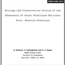 Research Pheasant Ecology  and Conservation by Ramesh & Sathya
