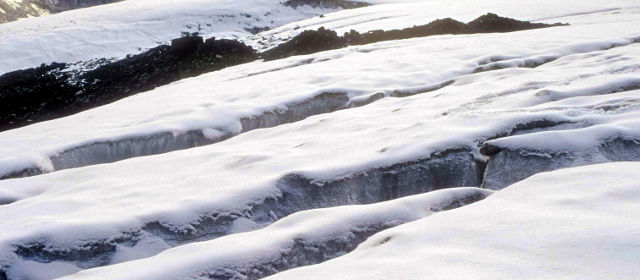 Crevasses on way to the Pin Parvati Pass