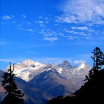 An Azure Blue Sky above the Mountains of Sainj Valley