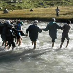 Crossing the Jiwa Nal river