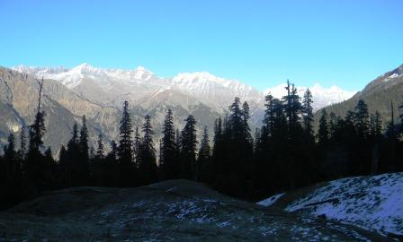On the glorious splendor of your Majesty, and on your wondrous works, i will meditate (View of the Great Himalayan National Park from Dhel Meadow)