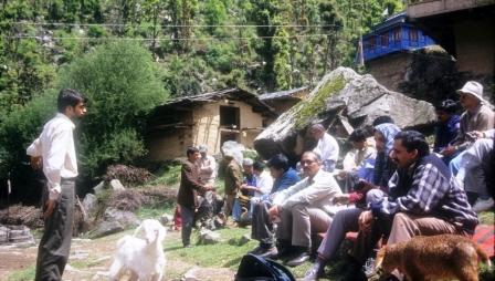 Researchers at Sainj Valley, GHNP during the Conservation of Biodiversity Project (1994-99)