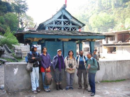 Gushaini temple is the starting point for many treks into the Tirthan Valley.