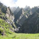Jumbled Peaks near Origin of Tirthan River about 4,100 m