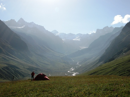 Biological diversity adds to the superlative beauty of GHNP (a camping site in Khandedhar Meadow, JiwaNal).
