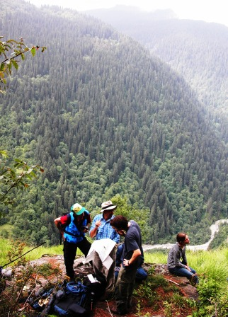 Explorers and taxonomists play a very important role in biodiversity conservation at GHNP (Sainj Valley, GHNP).