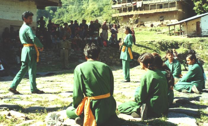 The popularity of Street Theater (Nukkar Natak) shows a lot of room for the conservation education in GHNP ecozone.