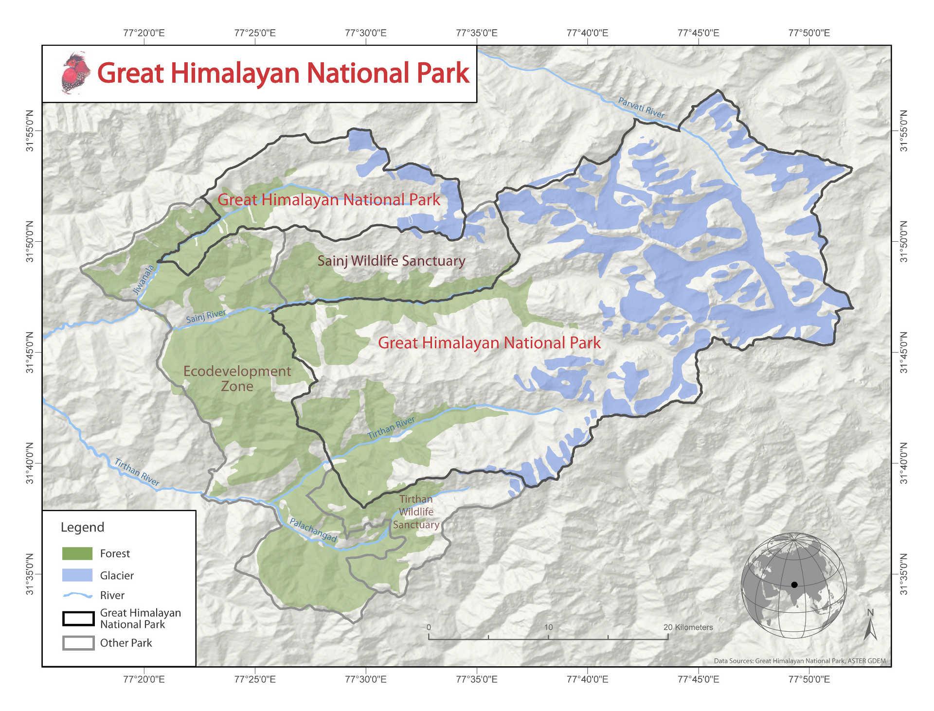 Maps - Great Himalayan National Park