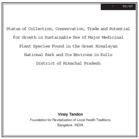 Research GHNP Medicinal Plants Trade by Tandon