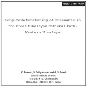Research Long Term Pheasant Monitoring by Ramesh and Sathya