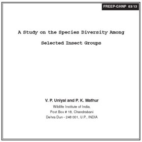 Research Selected Insect Groups of GHNP by Uniyal & Mathur