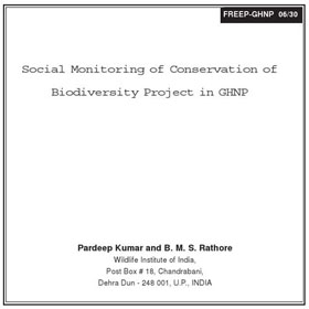 Research Social Monitoring in GHNP by Kumar & Rathore