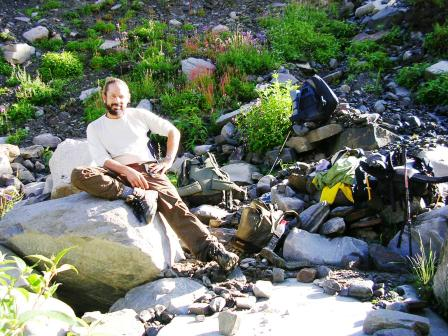 Jeff Salz climbed Yeshe Peak in Tirthan Valley of GHNP 2005.