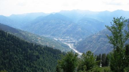 Densely populated Kullu Valley in 21st Century