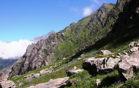 Alpine Zone of Khandedhar at Jiwa Nal origin, GHNP