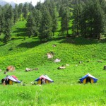 Parkachi Camping site (3,000 m), Sainj Valley