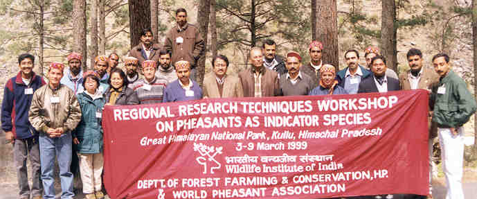 GHNP has been organising many research technique workshops with the Wildlife Institute of India.