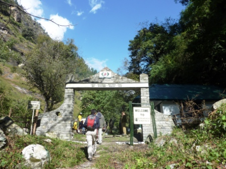 Entrance to GHNP in Tirthan Valley